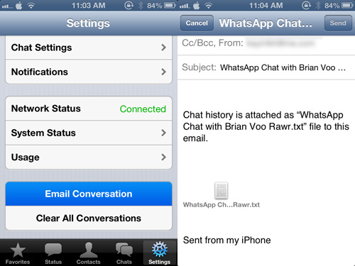 how to download whatsap conversation history