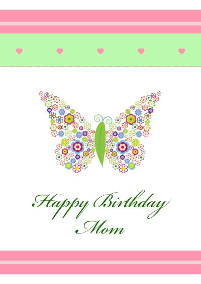 Terrible image regarding birthday cards for mom from daughter printable