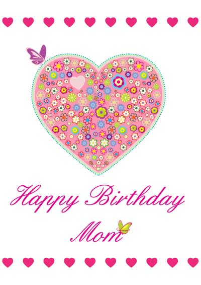 Dashing image with regard to printable birthday card for mom