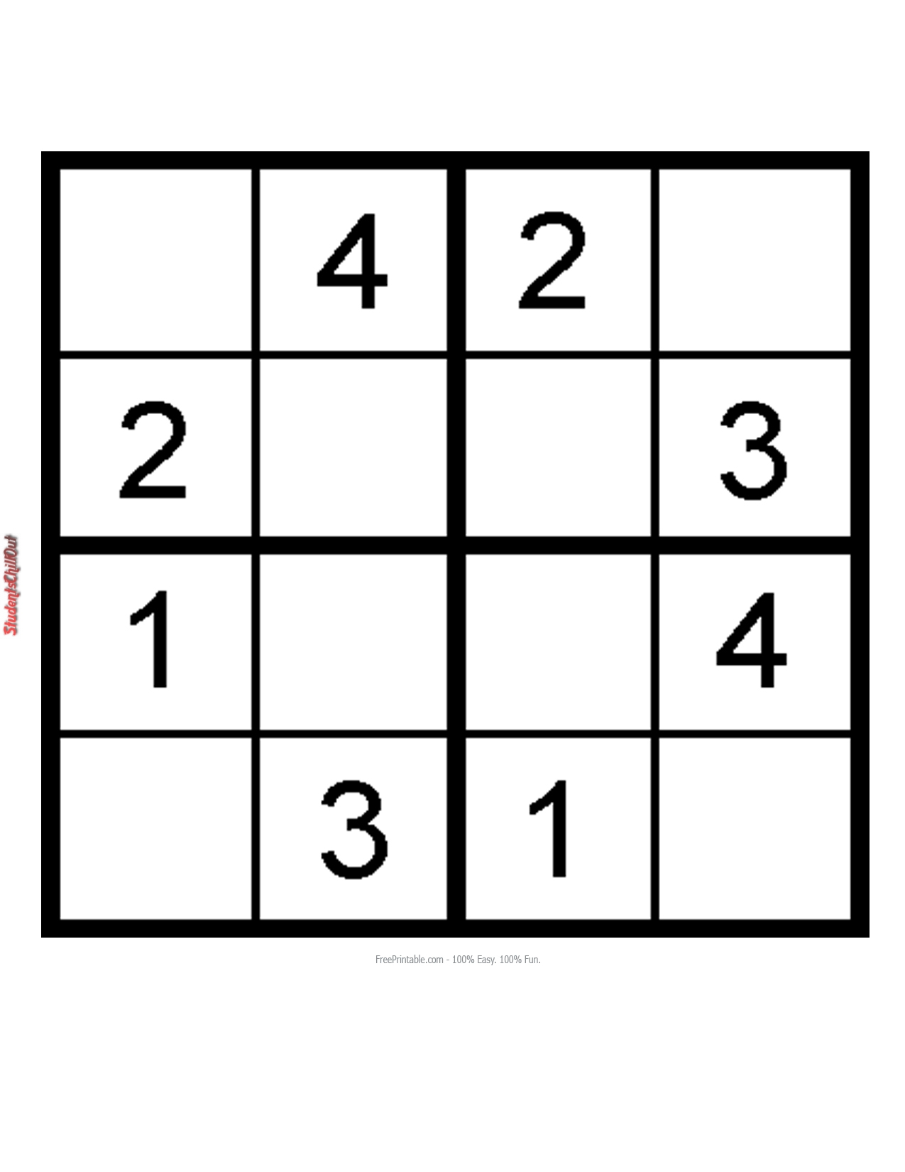 Mesmerizing image pertaining to sudoku for kids printable
